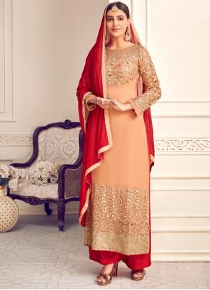 Georgette Festival Palazzo Designer Salwar Suit