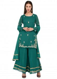 Georgette Green Readymade Salwar Kameez