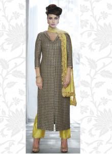 Georgette Grey Embroidered Designer Salwar Suit
