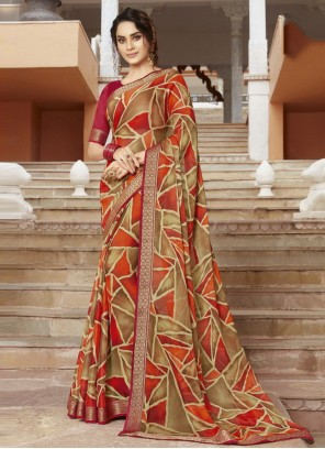 Georgette Multi Colour Bollywood Saree