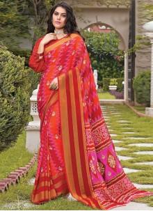 Georgette Multi Colour Casual Saree