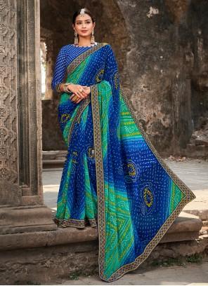 Georgette Multi Colour Classic Saree