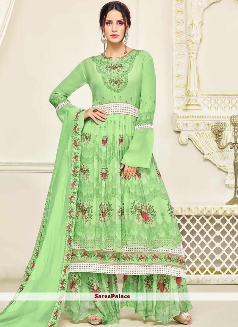 eeadf27d44 Buy Georgette Palazzo Salwar Kameez Online