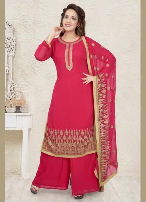 Georgette Pink Salwar Suit