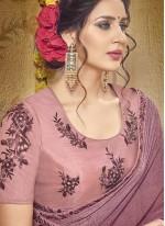 Georgette Printed Rani Classic Saree