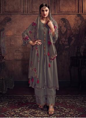 Georgette Resham Designer Salwar Kameez