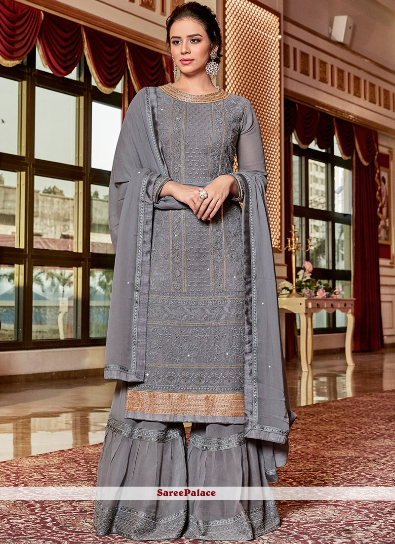 Georgette Sangeet Designer Palazzo Salwar Suit