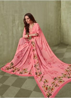 Georgette Saree in Pink
