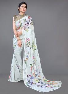 Georgette Satin Ceremonial Designer Saree