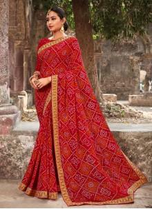 Georgette Traditional Saree in Multi Colour