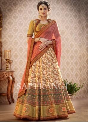 Glorious Art Silk Resham Work Lehenga Choli