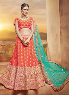 Glorious Net Embroidered Work Lehenga Choli