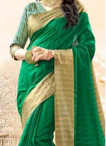 Glossy Cotton Silk woven Work Traditional  Saree