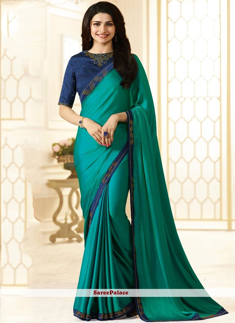 c66efec67b Buy Glowing Stone Work Prachi Desai Satin Saree Online