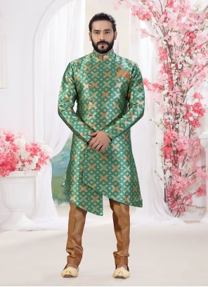 Gold and Green Color Indo Western