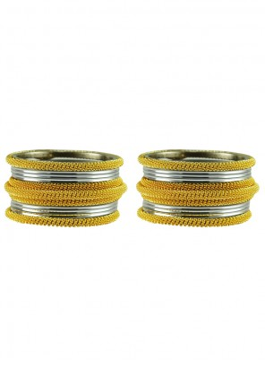 Gold and Grey Festival Bangles