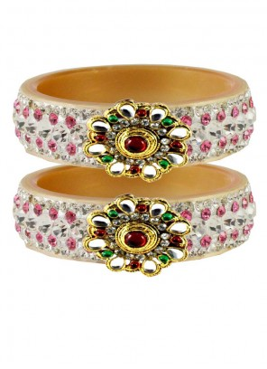 Gold and Pink Reception Bangles