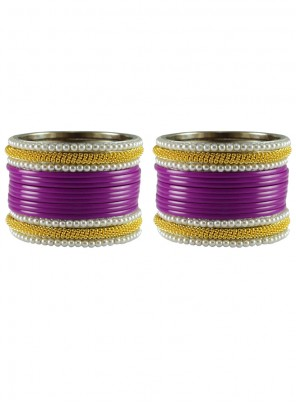 Gold and Purple Reception Bangles