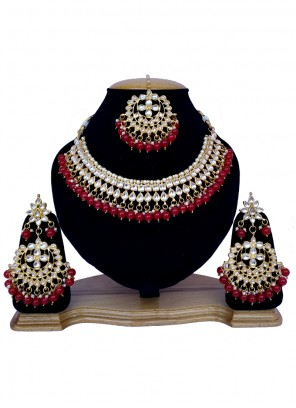 Gold and Red Reception Necklace Set