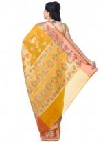 Gold Banarasi Silk Classic Designer Saree