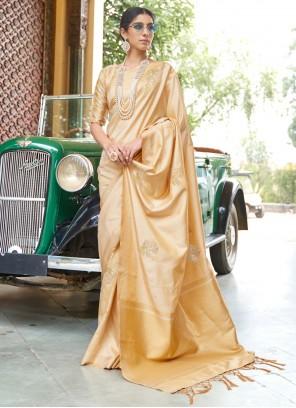 Gold Banarasi Silk Festival Designer Traditional Saree