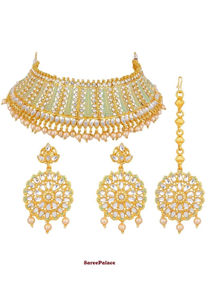 Buy Gold Bridal Necklace Set Online