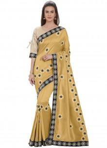 Gold Art Silk Casual Saree