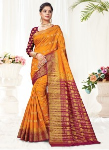 Gold Color Traditional Saree