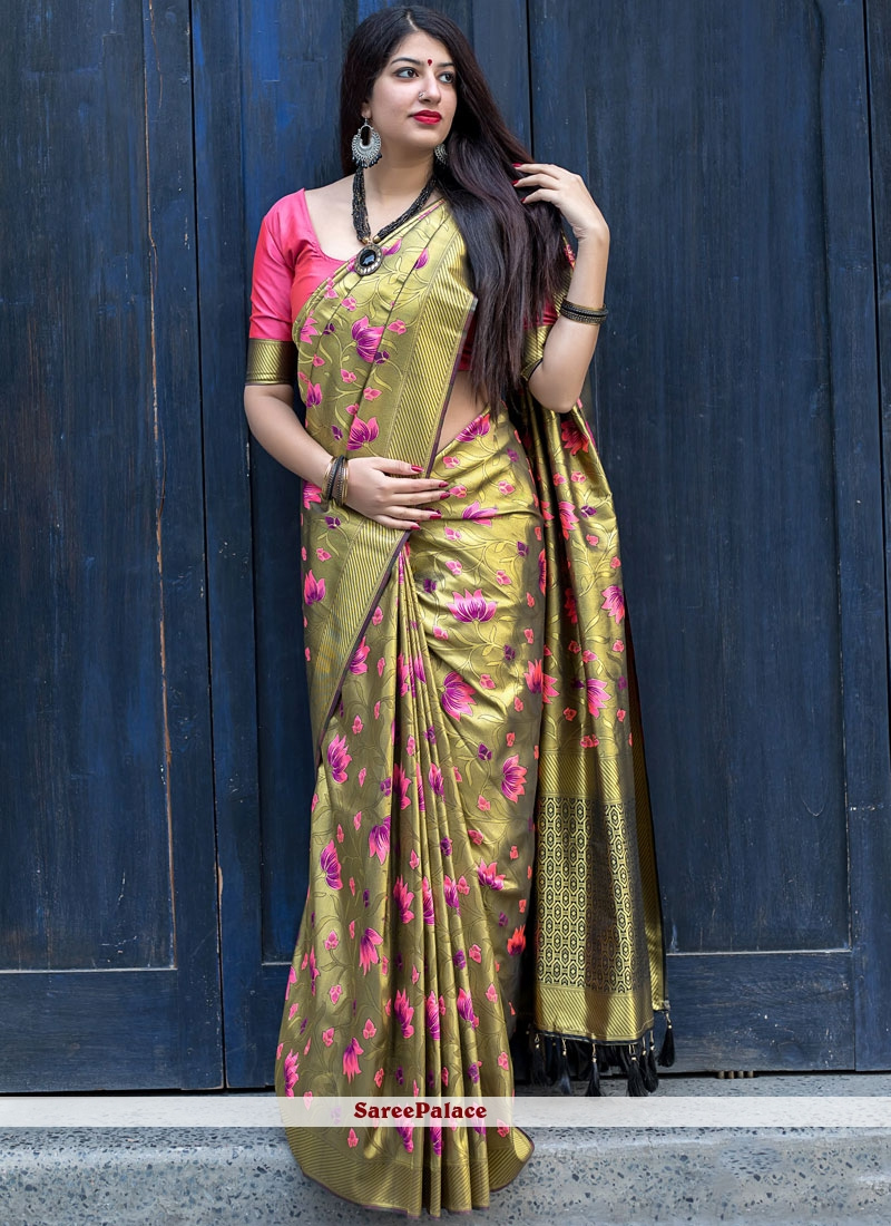 Gold Designer Traditional Saree