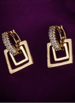 Gold Diamond Ear Rings