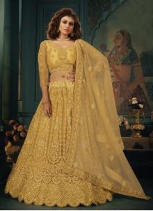 Gold Embroidered Lehenga Choli