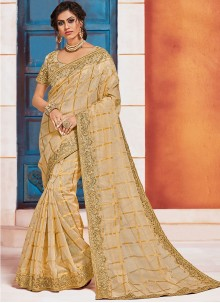 Gold Embroidered Party Classic Saree