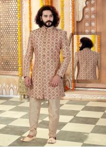 Gold Embroidered Reception Sherwani