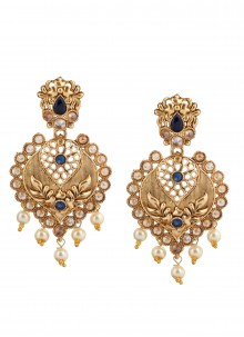 Gold Engagement Ear Rings