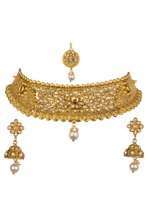 Gold Engagement Necklace Set