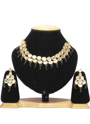 Gold Moti Festival Necklace Set
