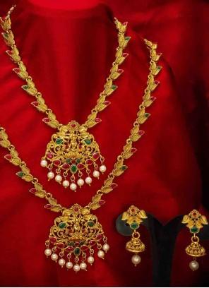 Gold Party Necklace Set