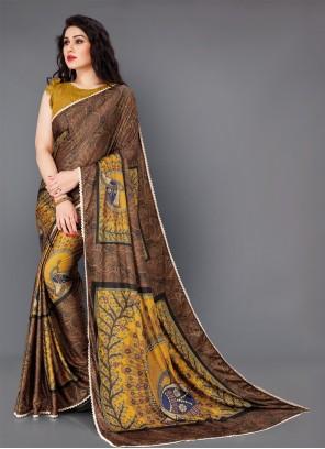 Gold Printed Festival Classic Saree