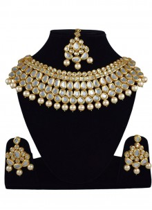 Gold Reception Necklace Set