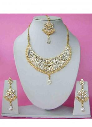 Gold Reception Necklace Set