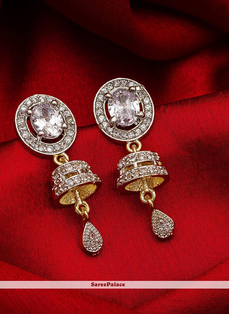 Gold Sangeet Ear Rings