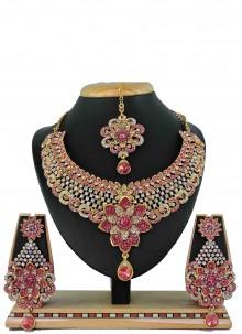Gold Stone Bridal Necklace Set