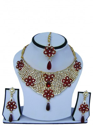 Gold Stone Ceremonial Necklace Set