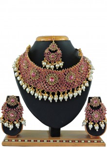 Gold Stone Festival Necklace Set