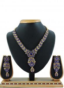 Gold Stone Festival Necklace Set