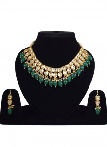 Gold Stone Necklace Set