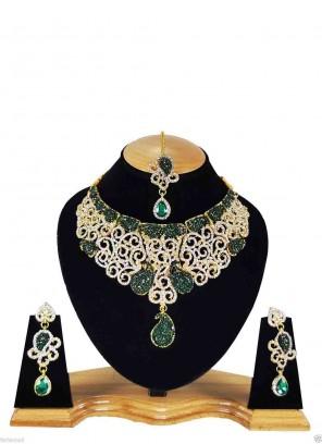 Gold Stone Necklace Set