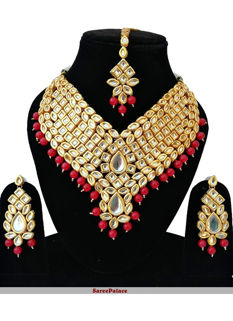 Gold Stone Reception Bridal Jewellery