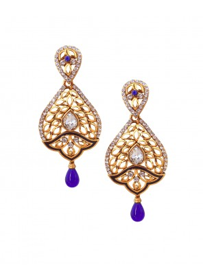 Gold Stone Work {occasion} Ear Rings