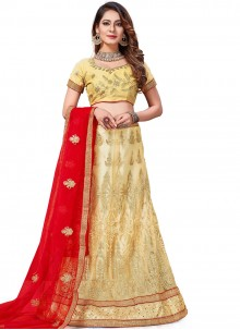 Gold Stone Work Party Trendy Lehenga Choli